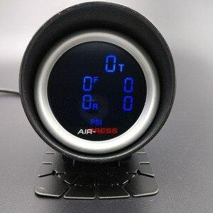 Image 2 - 2 polegada 52mm lcd cinco pressão ar calibre barra psi ar suspensão passeio de ar com 5 peças sensores elétricos