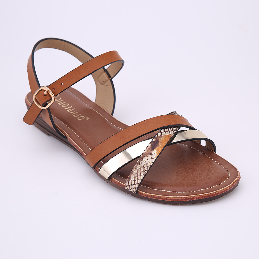 87fb24bce HEYIYI Shoes Ladies Flat Sandals White Brown Red Summer Beach Open Toes  Large Size Classic Shoes-in Women s Sandals from Shoes on Aliexpress.com