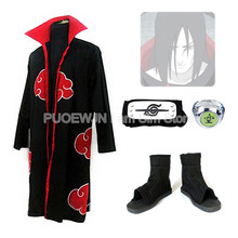 2014 New Anime Uzumaki Naruto  Akatsuki Orochimaru Cosplay Costume Red cloak cosplay man and women cos Whole Set