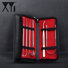XYj Dental Tool Set Stainless Steel Dental Dentist Prepared Tool Set Probe Tooth Care Kit Dental Mirror Remove Plaque and Tarter(China)