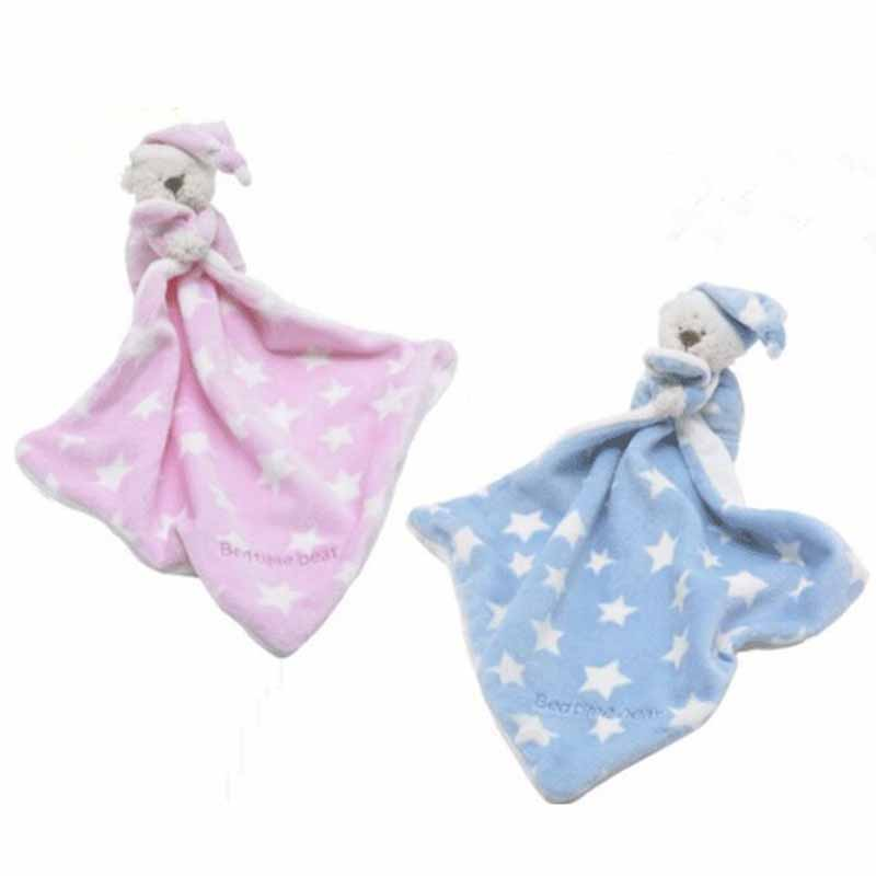Baby Kawaii Soft Bear Appease Baby Towel Toys for Newborns Soothe Reassure Teddy Bear Blankie Towel Educational Rattles Clam Toy