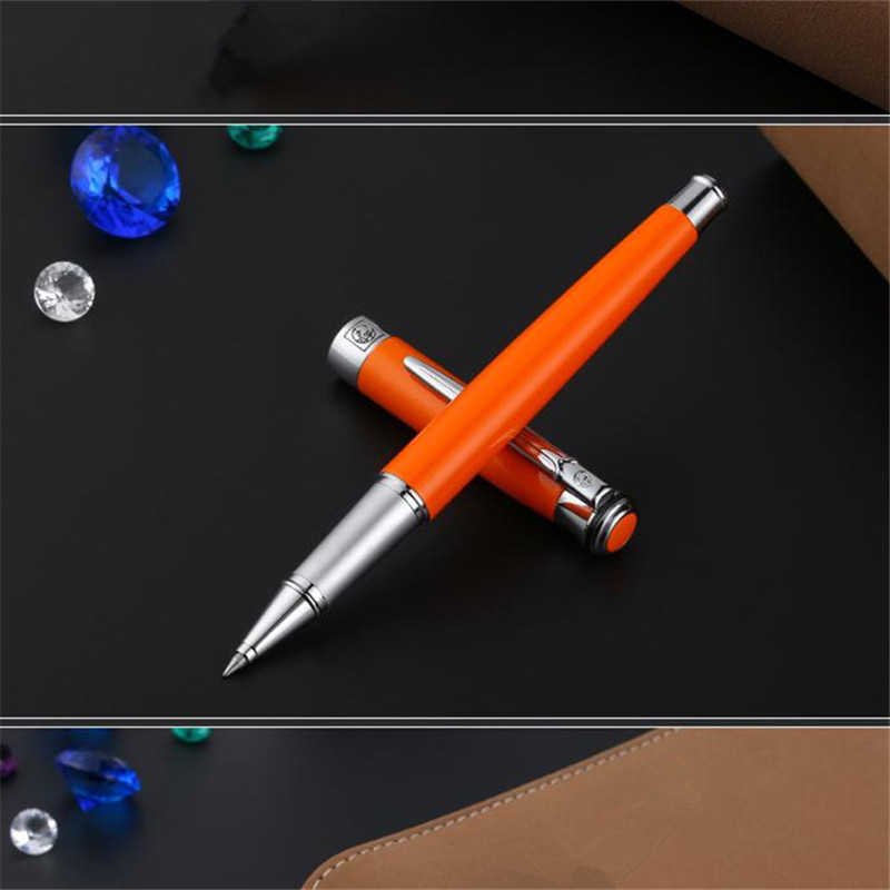1pc/lot Picasso 903 Roller Ball Pen Pimio Orange Pens Silver Clip Picasso PS-903 Home/Office Supplies Canetas Gifts 13.6*1.3cm roller ball pen or fountain pens burgundy j601 signature pens the best gifts wholesale 2 pcs lot free shipping insured