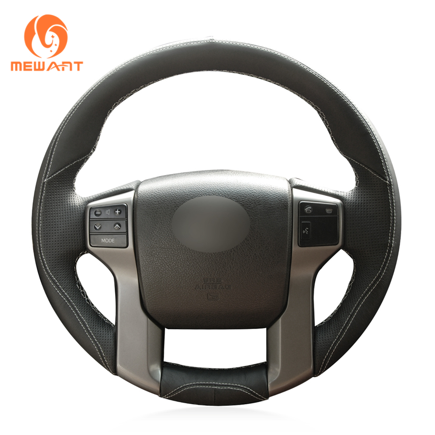 Black Leather Steering Wheel Cover for Toyota Land Cruiser Prado 2010-2015 Tundra 2013-2017 Tacoma 2011-2016 4Runner 2010-2015 brake master cylinder assembly for toyota 4runner land cruiser prado 47028 60010