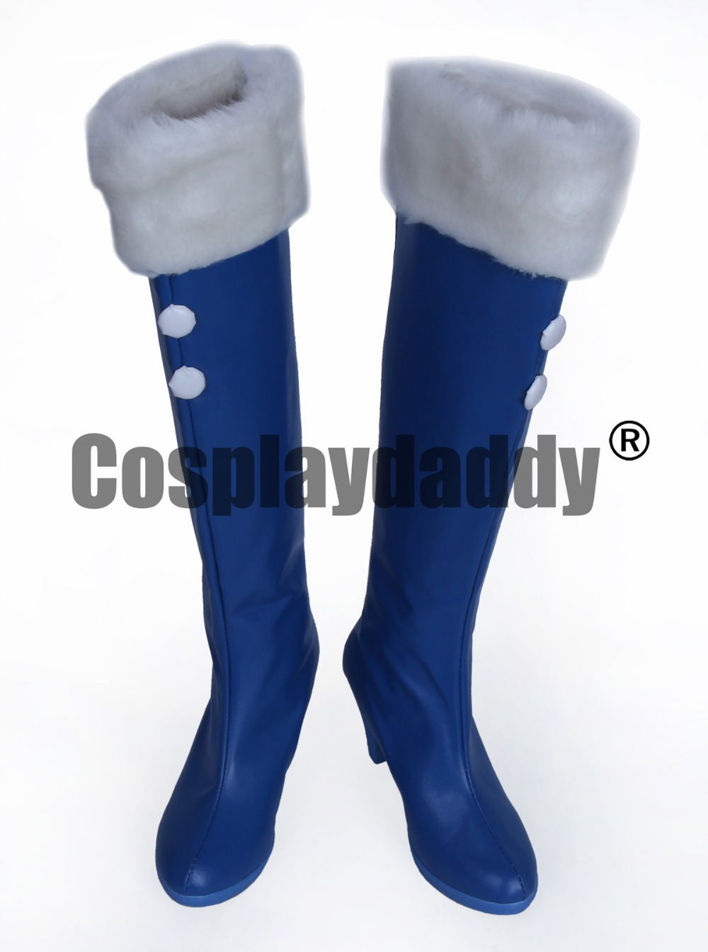 Vocaloid Snow Miku Blue Girls Long Cosplay Shoes Boots S008