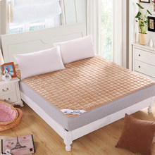 New free post quality flannelette bedspread. Royal quilted mattress, protective bed, bed cover, bedcover quality assurance(China)