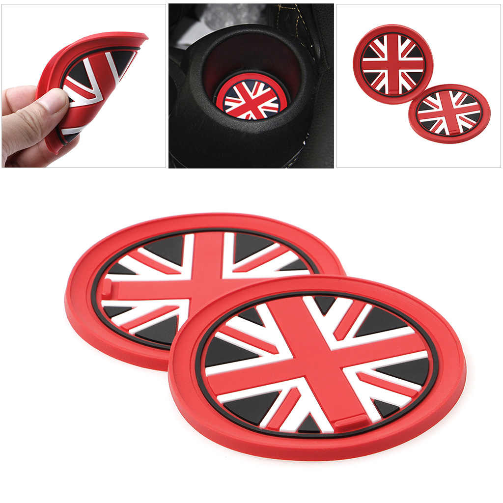 7.7 milímetros de Sílica Gel Copo Do Carro Anti-slip Pad Mat Para BMW Mini Cooper 2011 2012 2013 R55 R56