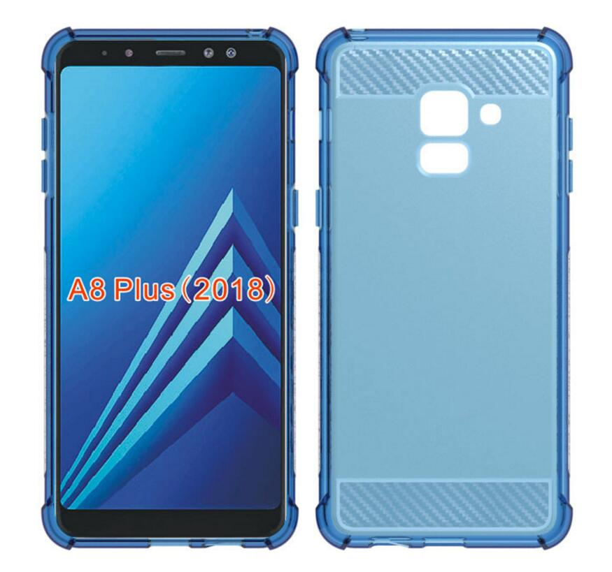 Soft Rubber Case for Samsung Galaxy A8 2018 Case Cover Samsung A8 Plus A8+ 2018 Brushed Silicone Case Airbag Drop Protection on