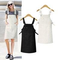 Hodisytian New Fashion Women Denim Dress Casual Sundress Spaghetti Strap Suspender Dress Mini Vestidos Feminino Hot
