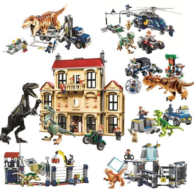 Mundo jurássico Dinossauro LOGOly 2 10928 10927 10926 Compatível Set 75930 Modelo 75932 Blocos de Construção de Brinquedo Tijolos Para Crianças