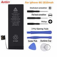 Antirr iP6G nueva batería de 0 ciclos OEM neutral sellado paquete para iPhone 6 De Apple 6G iPhone6 batería de teléfono móvil 1810mah #25