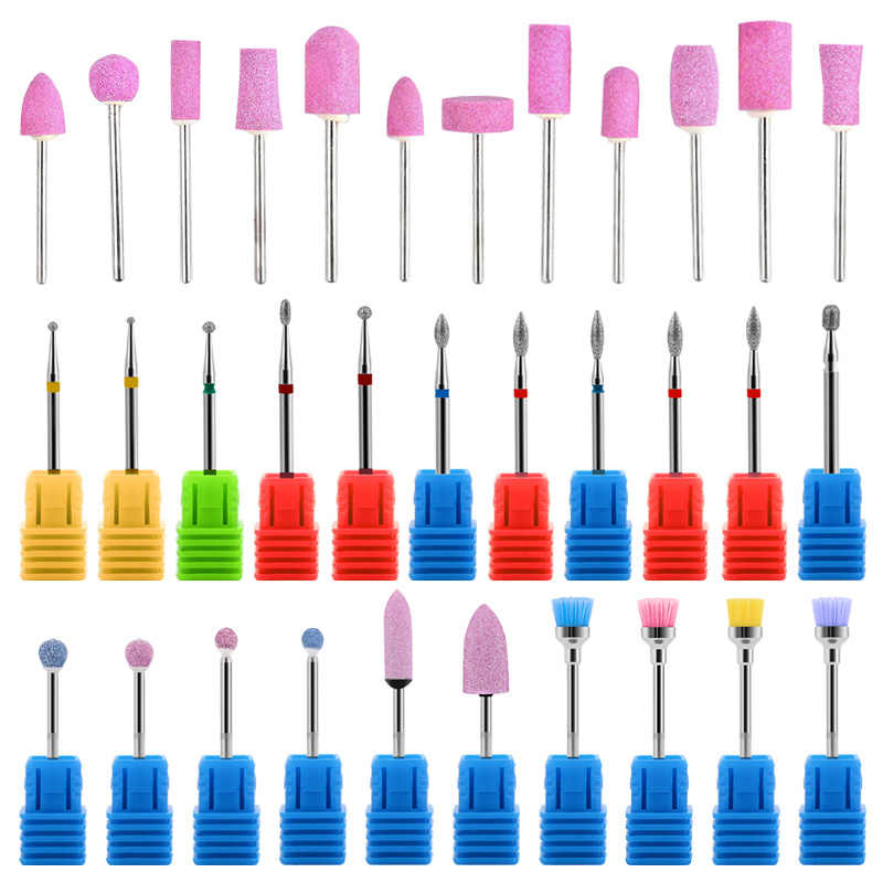 RBAN NAIL Quartz Scrub Stone Nail Drill Bits Replacement Device Polishing Grinding Head Kits Manicure Set Nail Art Beauty Tools