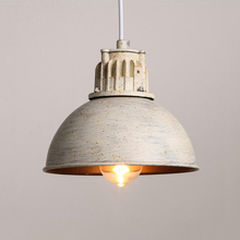 vintage loft retro lamps cord half ball lights living room bar pub club cafe aisle stair dining industry e27 chandelier