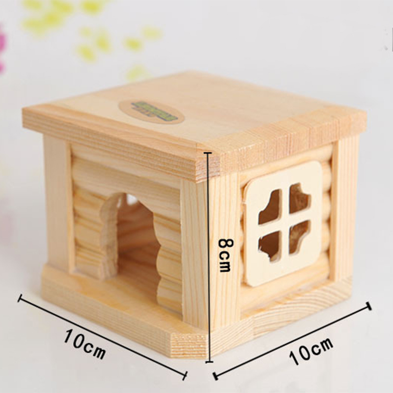 Mini Small Pet Wooden House CageWinter Windproof and Warm Nest Cave for Mouse Hamster Squirrel Baby Case Animals Accessories3