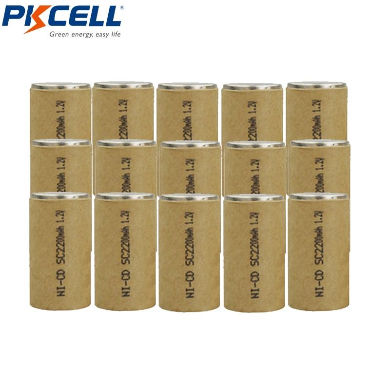 15Pcs sub c SC 2200 Battery NICD Rechargeable Batteries nicd sc2200 1 2v Flat Top 10C