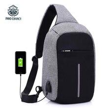 INHO CHANCY backpack school bag for teenagers design frame USB Charge Computer Backpacks Anti theft Waterproof for Men Women