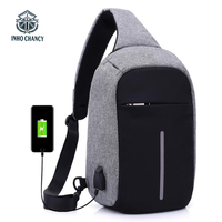 INHO CHENCY Backpack School Bag For Teenagers Laptop Bag Frame USB Charge Computer Backpacks Anti Theft