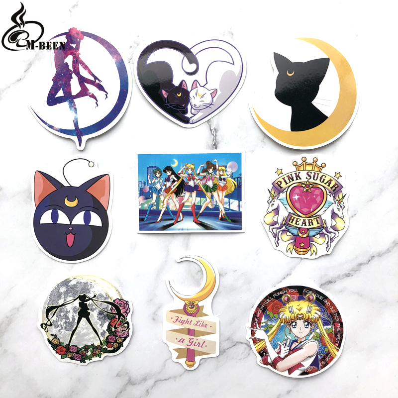 9pcs Creative Cute Self-made Pretty Guardian Sailor Moon Scrapbooking Stickers /Decorative Sticker Decoration /paper Stickers