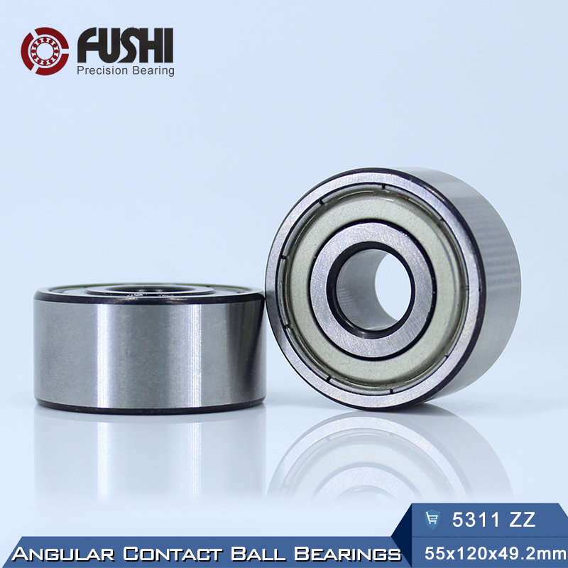 5311 ZZ Bearing 55 x 120 x 49.2 mm ( 1 PC ) Axial Double Row Angular Contact 5311ZZ 3311 ZZ 3056311 Ball Bearings