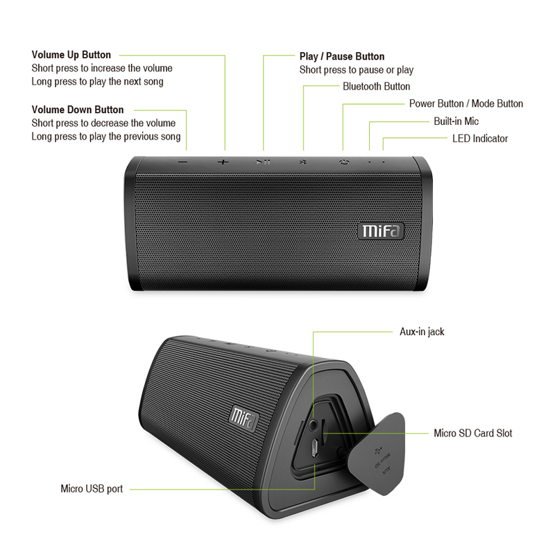 MIFA A10 Bluetooth speaker MIFA A10 Bluetooth speaker HTB1SLO2a1EJL1JjSZFGq6y6OXXat