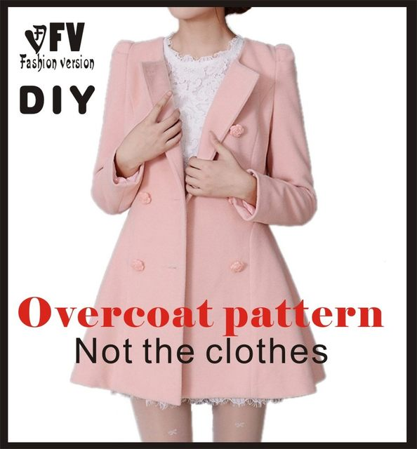 Online Shop Clothing DIY Overcoat Sewing Pattern Coat Sewing ...