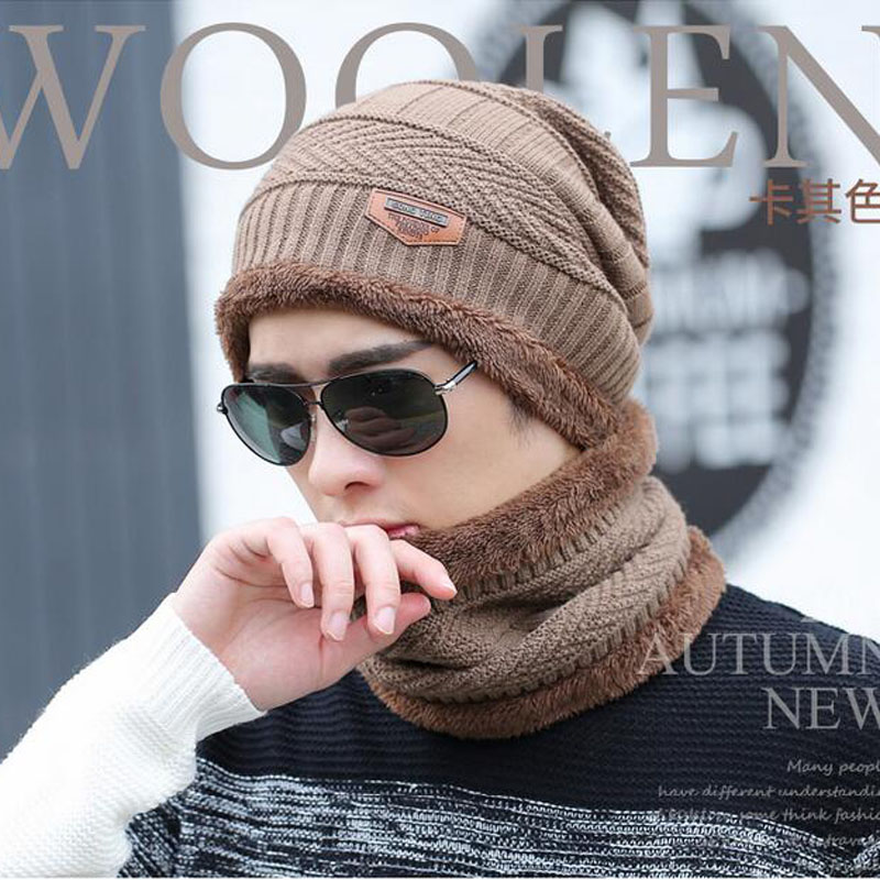 Apparel Accessories 2017 Men Warm Hats Cap Scarf Winter Hat Knitting For Men Caps Lady Beanie Knitted Hats Womens Hats Ring Scarf Men's Scarf Sets
