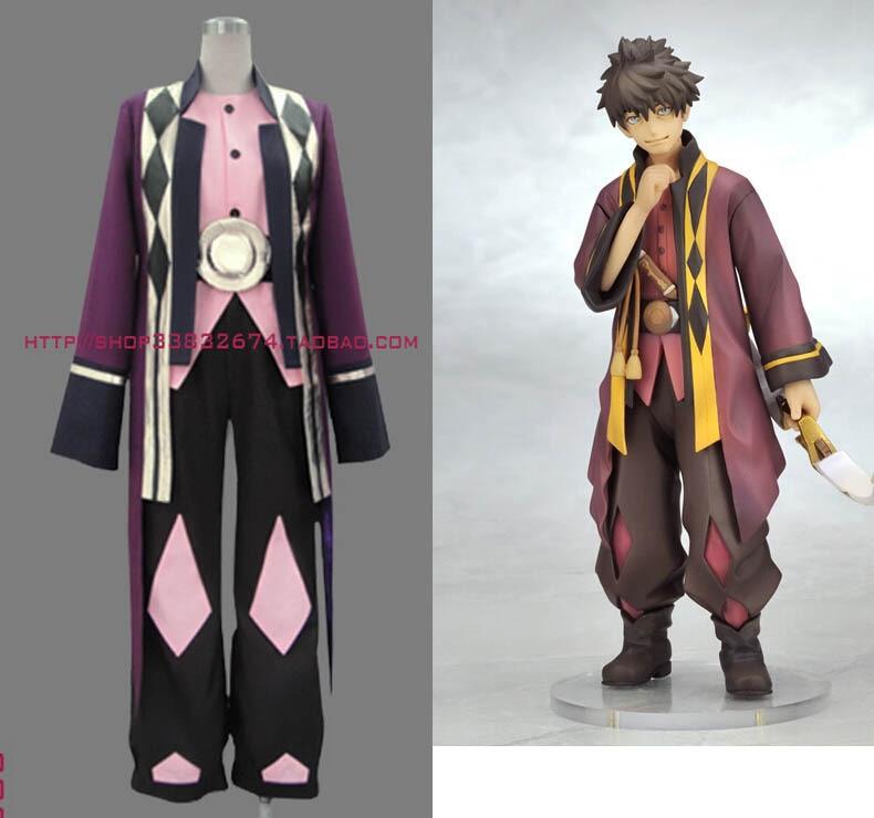 Tales Of Vesperia Raven Cosplay Costume Hero Set Coat Underwear