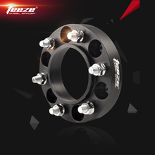 TEEZE 7075 T6 Aluminum Alloy Wheel Spacers 6x139.7 Adapters 6x5.5 CB 106.1 mm Black hub centric for Prado Land Cruiser 1 Pieces