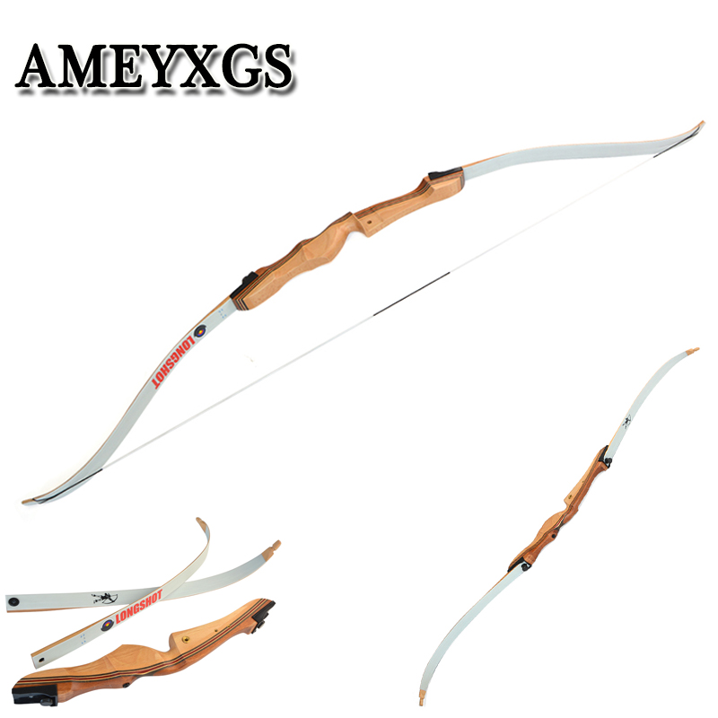 1pcs 16-38lbs 68inch  Recurve Bow Wood Suit For Profession Novice Outdoor Hunting Shooting Motion