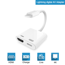 все цены на HDMI Adapter for Lightning to Digital AV Converter 4K USB Cable Connector Up to 1080P HD for iPhone X/XS Max/XR/8P/iPad Air/iPod онлайн
