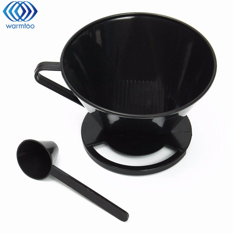 Reusable Coffee Filter Cup Cone-Style Drip Dripper Follicular Brewer Filter Practical Coffee Plastic Cup Tools Accessories drip smart coffee cup filter coffee cup manual cup clever dripper pot coffee dripper with cup cover gift for coffee lover