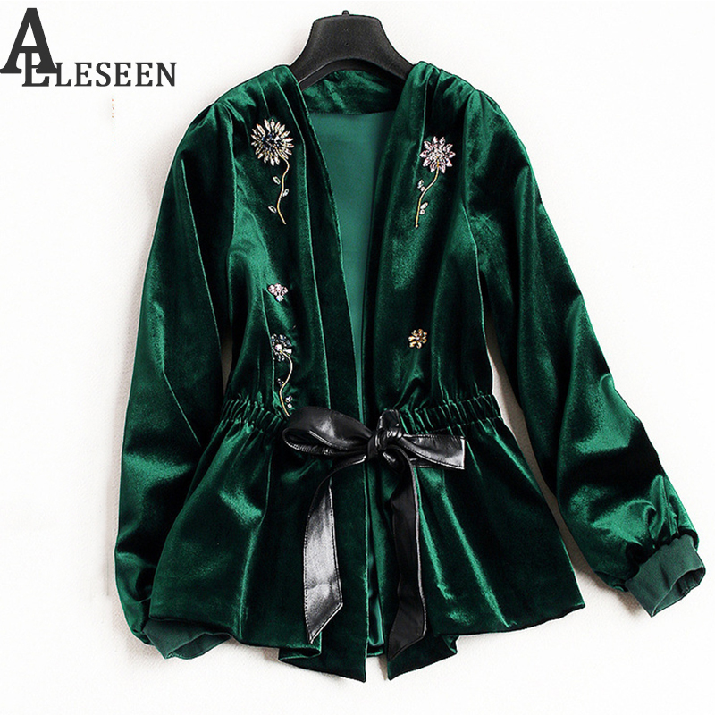 Women Embroidered Floral Trench Chic Loose Long Sleeve Spring Coat Jacket 2018