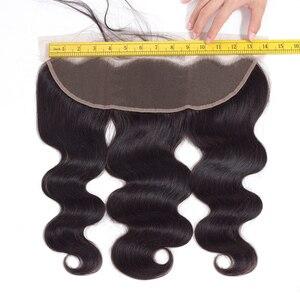 Image 5 - Gabrielle 13x4 Lace Frontal Closure 100% naturelle brésilienne Cheveux Remy, Body Wave, couleur naturelle, 13x4, 8 20 pouces cheveux humains Lace Frontal