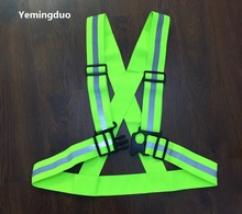 4*1.5cm Elastic Ribbon Night Reflective  Warning  Fluorescent Safety Vests  Cycling Clothing