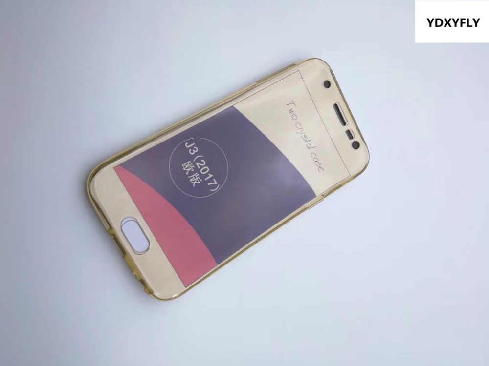 J330 j530 j730 ТПУ чехол для Samsung Galaxy J3 J5 J7 2017 спереди назад Прозрачная крышка J7 perx J3 появляются 360 Полный Средства ухода за кожей Чехол