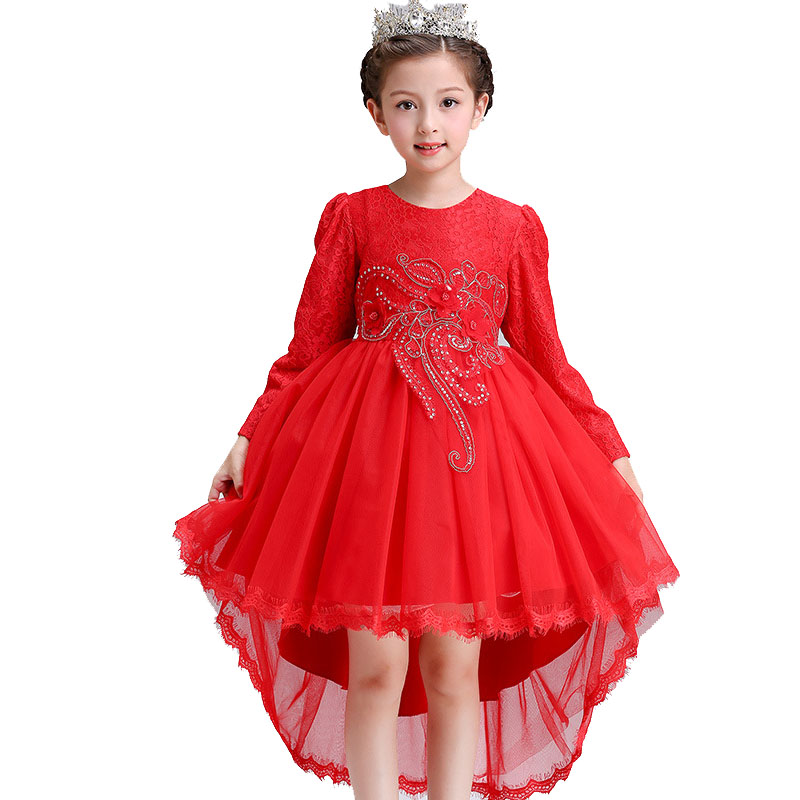 Christmas Children dress princess girls autumn long sleeved dress party tutu elsa dresses for teenager clothes kids baby 6 10 T uoipae party dress girls 2018 autumn
