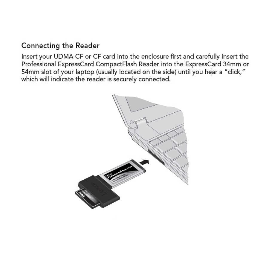 ليكسر بروفيشنال أودما 6 فلاش مدمج عالي السرعة CF إلى اكسبرسكارد 54 مللي متر 34 مللي متر محوّل قارئ البطاقات لأجهزة الكمبيوتر المحمول الدفتري