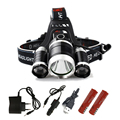 7000Lm XML T6+2R5 LED Headlight Headlamp Head Lamp Light 4mode torch +2x18650 battery+EU/US Car charger for fishing Lights