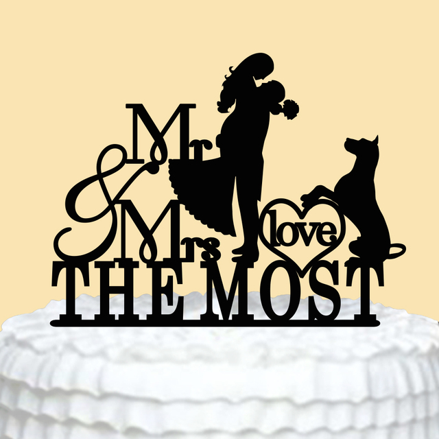 Aliexpress.com : Buy Personalized Wedding Cake Topper Acrylic Mr Mrs ...