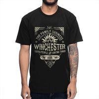 В стиле «хип-хоп» Сверхъестественное винчестер Бизнес футболка для Для мужчин 2019 новый дизайн футболка Big Размеры Homme футболка