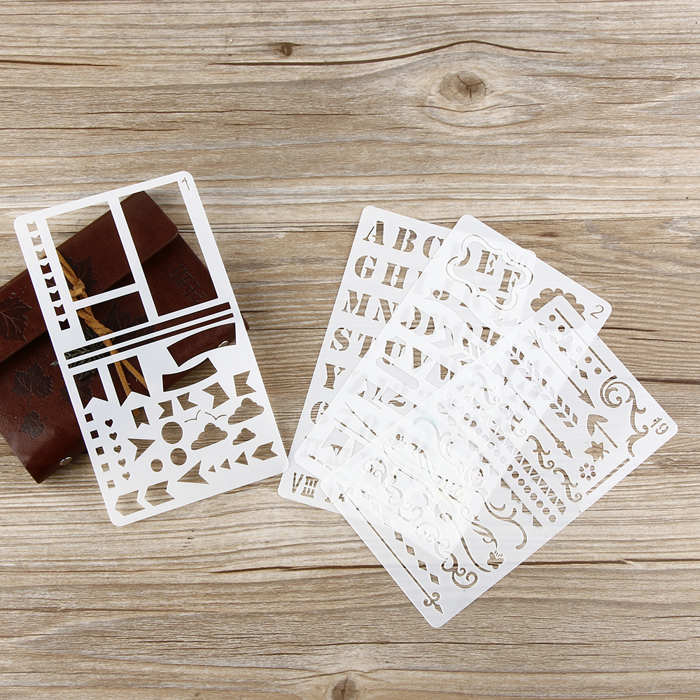 1 20 Stationery Bullet Journal Stencil Plastic Stencils Notebook Diary Scrapbook Hollow Ruler DIY Craft In Paper From Home Garden On
