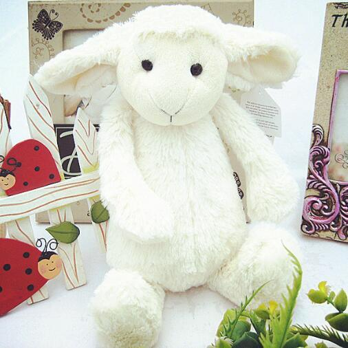 New Coming 30cm cute sheep Reassure toy soft baby appease stuffed plush toys Kids toy children Birthday Christmas Day Gifts cute sheep infant reassure towel newborn blankie baby appease towel educational plush rattle toy