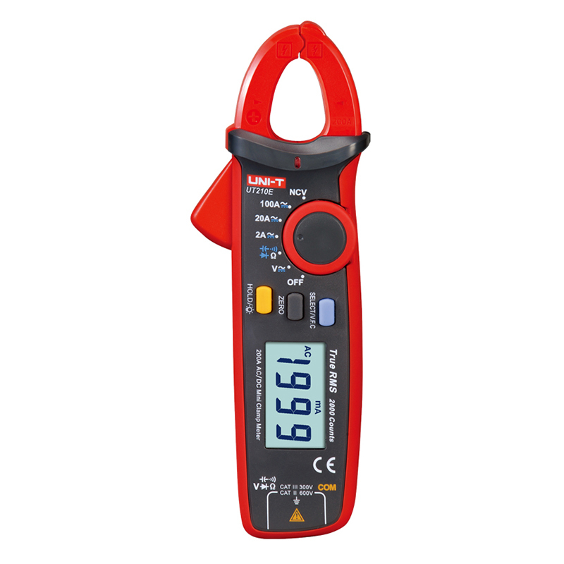 New UNI-T Mini Digital Current Clamp Meter Multimeter UT210E Ture RMS Auto Range 2000 Count LCD Display Megohmmeter China uni t ut70b lcd digital multimeter auto range frequency conductance logic test transistor temperature analog display