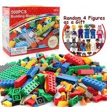 500 Pieces Building Blocks Legoings City DIY Creative Bulk Bricks Model Figures Educational Kids Toys Compatible All Brands