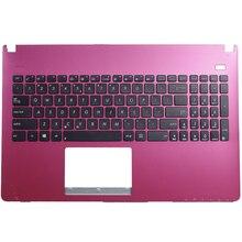 US laptop keyboard FOR ASUS X550 X550C X501 X502 K550 X552C A550 Y581 X550V F501 F501A F501U Y582 S550 D552C With C shell red