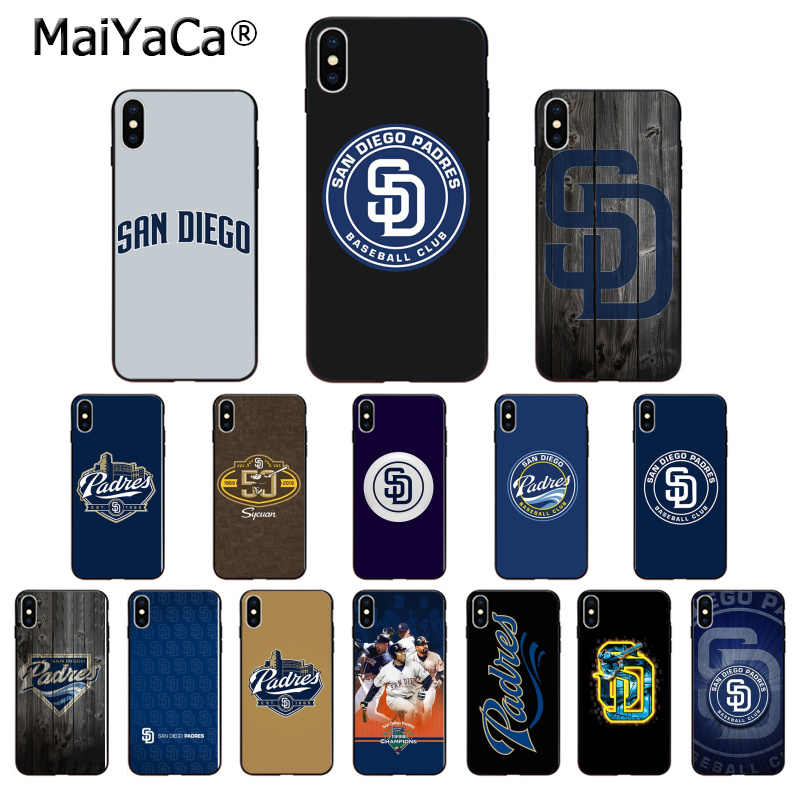 Maiyaca San Diego Padres Tpu Soft Phone Accessories Phone Case For Apple Iphone 8 7 6 6s Plus X Xs Max 5 5s Se Xr Mobile Cover Aliexpress