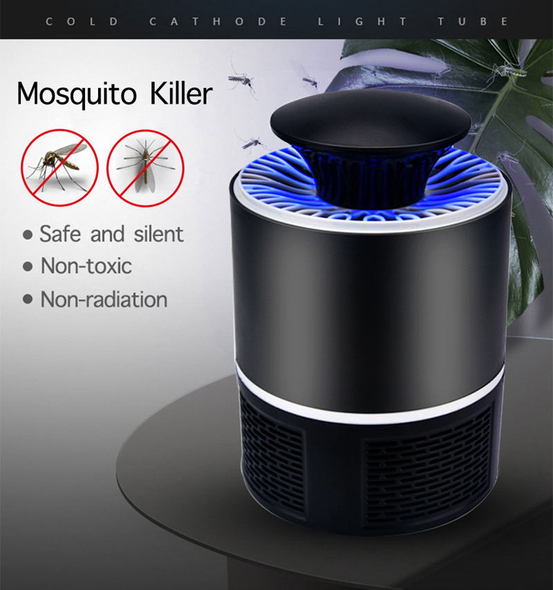 5V USB Powered Mosquito Killer Lamp Home Indoor Anti Insect Killer Bug Zapper Trap UV Light Electronic Mosquito Repellent Lamp