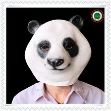 Hot Sale Halloween Costume Prop Adult Latex Party Masks Panda Head Natural Silicone Rubber Cosplay Fancy Dress Animal Face Mask