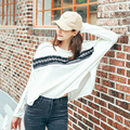 [XITAO] loose slimming form new arrival full bat wing sleeve O-neck pullovers patchwork color with tassel female T-shirt MFB-42