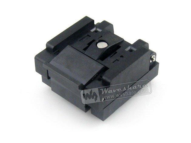 QFN64 MLP64 MLF64 QFN-64B-0.5-01 Enplas QFN 9x9 mm 0.5Pitch IC Test Burn-In Socket qfn20 mlp20 mlf20 qfn 20b 0 5 01 qfn enplas ic test burn in socket programming adapter 4x4mm 0 5pitch free shipping