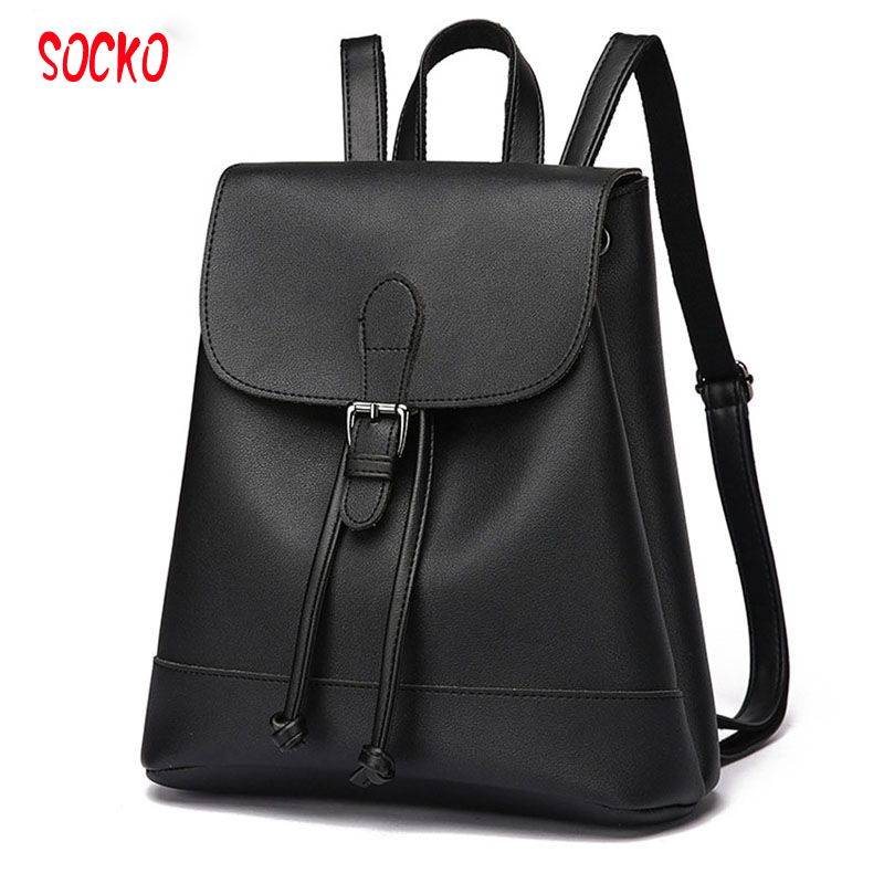 New 2017 High Quality Women Backpacks Famous Brand Fashion Lady Leather Backpack School Backpacks For Teenage